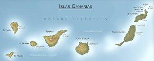 islas canarias desde arriba